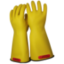 E014BY-8H - Gloves, rubber, black yellow,