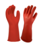 E014R-7 - Gloves, rubber, red, 14