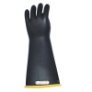 E114YB-10 - Gloves, rubber, yellow black,