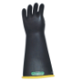 E316YB-10H - Gloves, rubber, yellow black,
