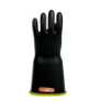 E418BCYB-10H - Gloves, rubber, yellow black,