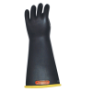 E418YB-12 - Gloves, rubber, yellow black,
