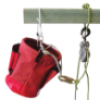 TENM207 - Bucket, tool, canvas, red,