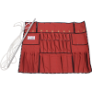 TENM418 - Apron, bucket, canvas, red,