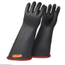 NG418CRB-11 - Gloves, rubber, red black,