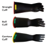 NG416YB-10 - Gloves, rubber, yelllow/black,
